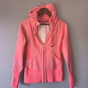 Zella hooded zip up sweatshirt size small